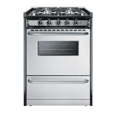 Summit Appliance 24 in. 2.9 cu. ft. Slide-In Gas Range in Stainless Steel-TNM61027BFRWY at The Home Depot