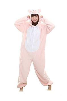 Himaton Pink Pig Pajamas Homewear Onesie Cosplay Costume Kigurumi Animal  Outfit    More details can be found by clicking on the image. 99189f9d0