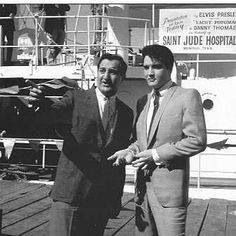Danny Thomas, founder of St. Jude Children's Research Hospital and Elvis Presley, King of Rock-n-Roll...Sweet!