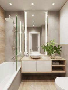 Bathroom Design Luxury, Modern Bathroom Decor, Bathroom Layout, Modern Bathroom Design, Bathroom Furniture, Bathroom Tub Shower, Small Bathroom, Bad Inspiration, Bathroom Inspiration
