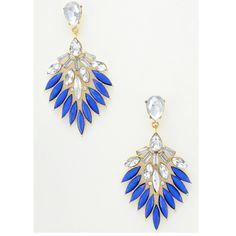 Boucles d'oreilles strass.  #boucles #bijoux #tendance #look #mode #earring #jewelry www.milena-moda.com