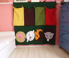 Sleeping animals CURTAIN FOR CHILDREN sewn colored by dgmart, $130.00