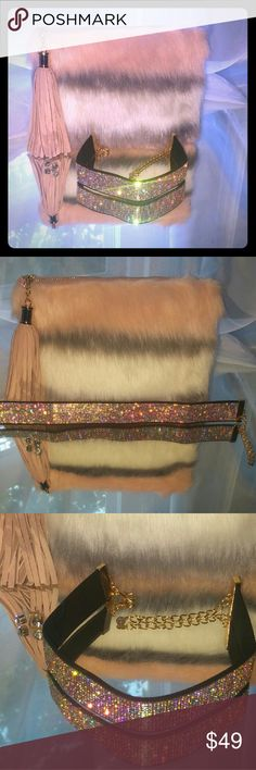 """""""⭐️⌛️24HR SALE⌛️⭐️Plush Lux"""" Kit ❤Total Trendsetter Host Pic❤  The Ba'Jewel Kits are monthly handpicked  handbag and jewelry kits for stylish women everywhere starting at $29.99 for all pieces inside. Kit includes 1 Beyond Beautiful Blush Pink/White:/Gray  Medsize Faux Fur Clutch bag w/strap 1 Zillion Iridescent Crystal Choker  w/ stud crystal earrings The style you love for the price you want A MUST HAVE!! View our video on Instagram  @ Citichic2311fashions its just lovely Ba'Jewel Kits…"""