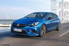 Opel Astra OPC Illustration