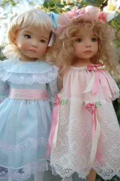 Dianna Effner dolls. Outfits by Angela  Caroline - Easter Best