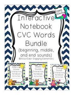 Interactive Notebook CVC Word Bundle