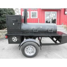 Charcoal Concession Pit BBQ Wood Smoker Pull Behind Grill Cooker Trailer Charcoal Smoker, Charcoal Bbq, Wood Smokers, Meat Smokers, Bbq Wood, Concession Trailer, Smoker Recipes, Smoking Meat, The Smoke