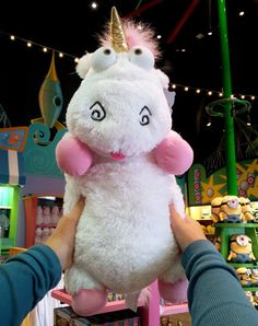 """Despicable Me Unicorn Plush """"IT'S SO FLUFFY!!!"""" Agnes 26"""" XLarge Very Soft NEW - Other"""