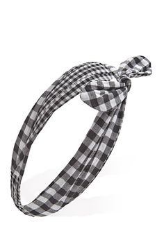 Wire-Bow Gingham Headwrap | FOREVER21 - 1000118053