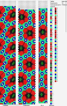14 around bead crochet rope pattern Bead Crochet Patterns, Bead Crochet Rope, Peyote Patterns, Beading Patterns, Beaded Crochet, Seed Bead Flowers, Beaded Flowers, Poppy Pattern, Bead Loom Bracelets