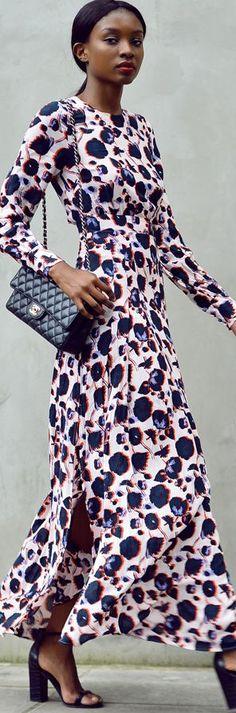 H&m Pink Multi Floral Side Slit Maxi Dress by Bisous Natacha