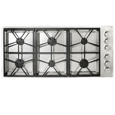 dacor 6burner gas cooktop stainless steel common 46in