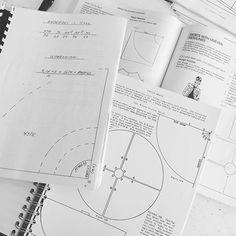 Research til workshop i rundskårne nederdele. 6 teori bøger = 6 forskellige udregninger med 6 forskellige konstruktions-mål som…