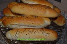 Slovak Recipes, Czech Recipes, Bread Recipes, Cooking Recipes, Pizza Dough, What To Cook, Hot Dog Buns, Croissant, Food And Drink