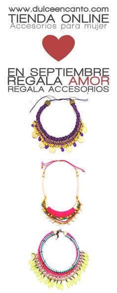 www.dulceencanto.com Tienda online de accesorios para mujer #accesorios #collares #modamujer