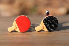 Ping Pong Paddle Table Tennis Cufflinks