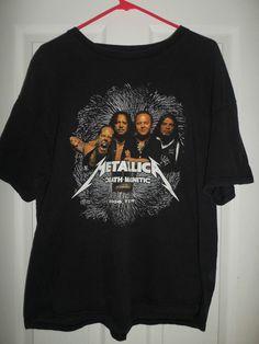 Men's Black METALLICA DEATH MAGNETIC 2008 TOUR Logo Concert Shirt, Size L, GUC! #Unbranded #CrewNeck