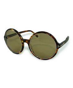 Look what I found on #zulily! Brown Tortoise Round Carrie Sunglasses by Tom Ford #zulilyfinds