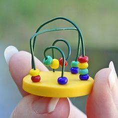 Dollhouse Miniature Toy  Toddler Bead Maze