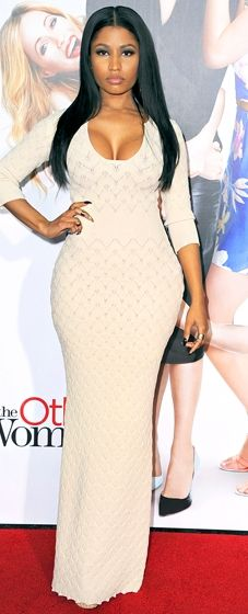 Nicki Minaj wears Alexander McQueen to the LA premiere of 'The Other Woman'
