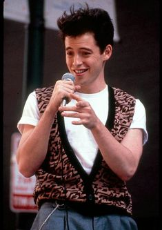Ferris Bueller. I had such a crush on him. Check out that sweater and those pleated pants!