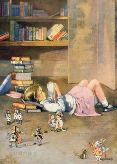 Alice in Wonderland illustrators | ... Illustration Reading Books Alice in Wonderland by Honor C Appleton.