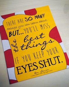 8x10 Dr. Seuss quote art