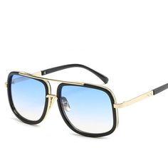 dbb799e12 2019 Brand Design Men Sunglasses Vintage Double-Bridge Driving Male  Sunglass Mirror Women Sun Glasses Men Eyewear Oculos de sol