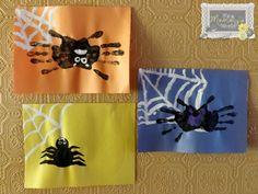 Hand-print Spider Halloween Craft