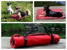 Hund: Decken - funktionale Hundedecke Größe S - rot kariert - ein Designerstück von Perro-Paolo bei DaWanda