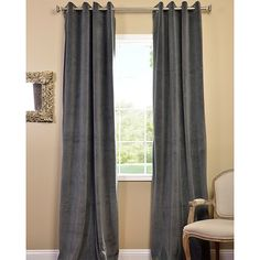 Eliminate unnecessary light for a peaceful night's sleep with this stylish blackout curtain panel. Available in a chic grey, these EFF curtain panels feature drapery hooks for quick and easy installation and are available in several length options.