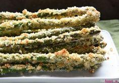 Parmesan Panko Asparagus ~ fresh asparagus spears are coated in a ...