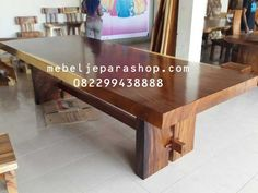 Wide Suar Slab Solid Wood Table Solid Wood Table, Dining Table, Unique, Furniture, Home Decor, Decoration Home, Room Decor, Dinner Table, Home Furnishings