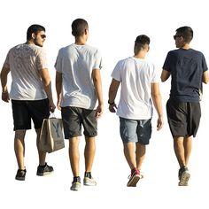 A group of bright young men wearing their finest summer t-shirts and skipping along the boardwalk. The background of this PNG file has been tightly cropped out. People Cutout, Cut Out People, People Crowd, Human Poses Reference, Body Reference, Photoshop, Person Png, Immediate Entourage, Render People