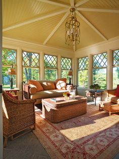 Brookdale Gardens traditional sunroom/porch, MA. Hart Associates Architects.