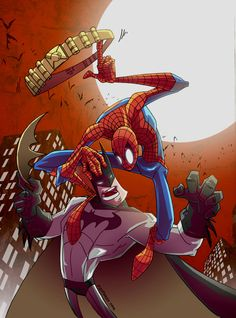 Batman vs Spiderman by ~marespro13 on deviantART