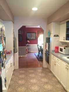 Before photo of the kitchen.