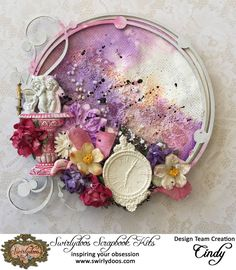 Round embroidery Medium Add ons Kit April for swirlydoos