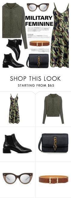 """MILITARY FEMININE!"" by ifchic ❤ liked on Polyvore featuring Nili Lotan, TIBI, Karen Walker, Le Specs Luxe and contemporary"
