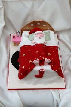 Christmas cake ... love his feet