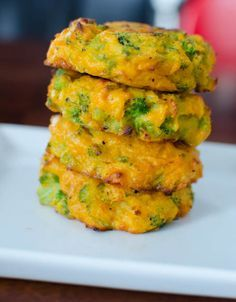 Broccoli and Cheddar Patties | Little Grazers  these are great with zucchini too