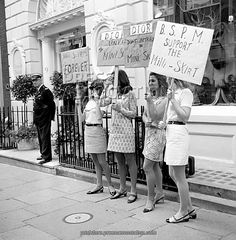 Keep the Mini-skirt Protest outside Dior