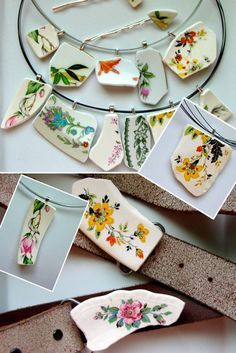 Beautiful jewelry made from broken plates