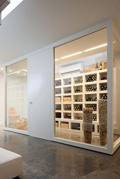 Wine cellar project B. I Deco-Lust — – Wine Venues Wine Cellar Design, Wine Design, Cave A Vin Design, Home Wine Cellars, Wine Display, Wine Wall, Wine Cabinets, Tasting Room, Wine Storage
