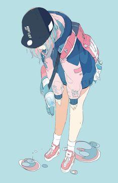 Confira os melhore e mais exclusivos papéis de parede de todos os animes clicando no link Check out the best and most exclusive wallpapers of all anime by clicking the link Fan Art Anime, Anime Art Girl, Manga Art, Anime Girls, Kawaii Anime, Kawaii Art, Art And Illustration, Pretty Art, Cute Art