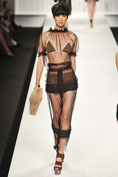 Spring 2010 Trend Alert: Underwear as Outerwear Designer Lingerie, Luxury Lingerie, 90s Fashion, Womens Fashion, Fashion Trends, Frilly Knickers, Classic Lingerie, Teddy Lingerie, Underwear
