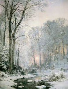 Anders Andersen-Lundby (1841 - 1923) - Winter Sunset