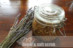 DIY: Brown Sugar, Sea Salt, Lavender and Oatmeal Scrub