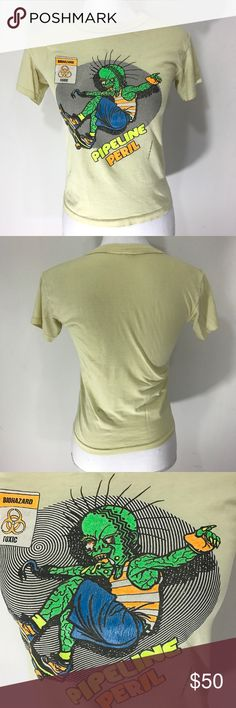 "Vintage 90s skater t shirt neon Vintage 90s T shirt kids ""size L"" fits like a women's S  measurements taken lying flat: Bust 16"", Length 20.5""  What an incredible one of a kind vintage tee!! Vintage Tops Tees - Short Sleeve"