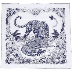 New Hermès Jungle Love Silk Scarf by Dallet in Box